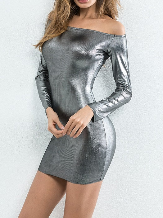 One Shoulder Bling Bling Bodycon