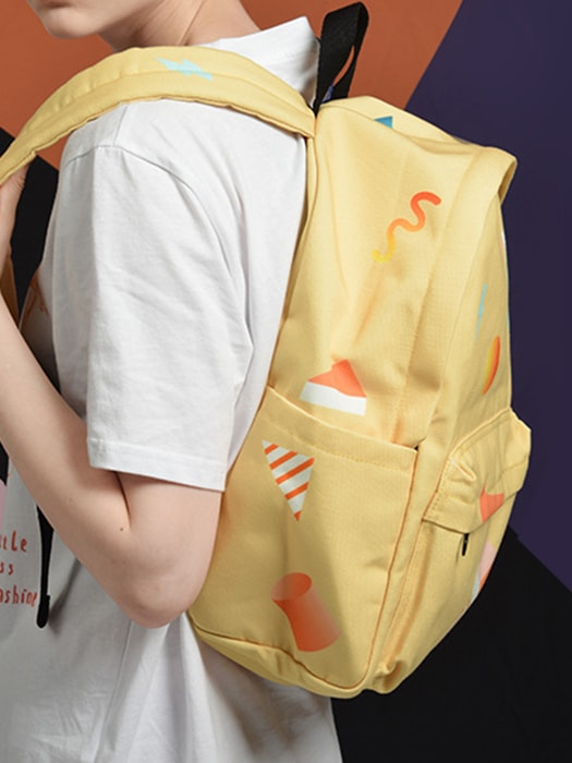 Senior High School Student Colorful Storage Backpack