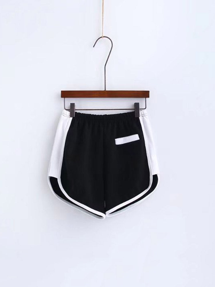 Sporty Color-block Hem Shorts
