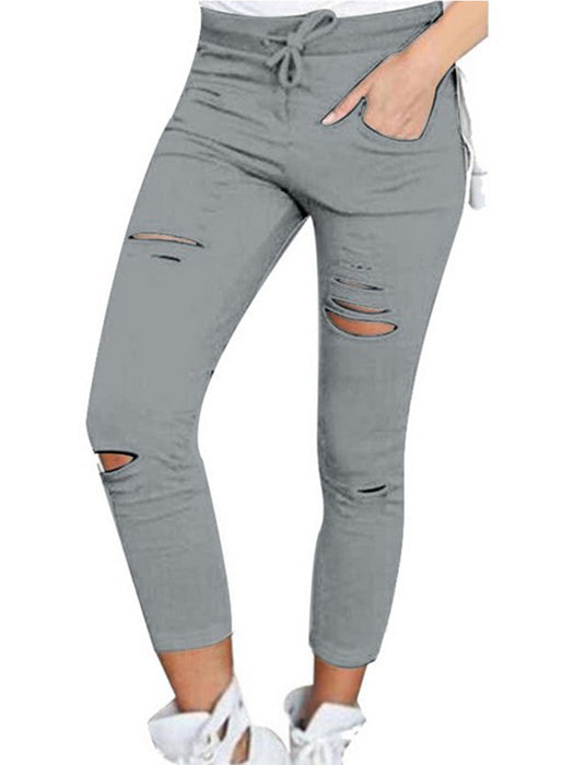 Stretch Ripped Pants