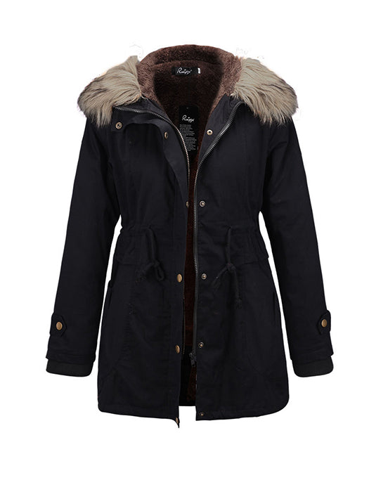 Casual Convertible Hooded Thick Coat