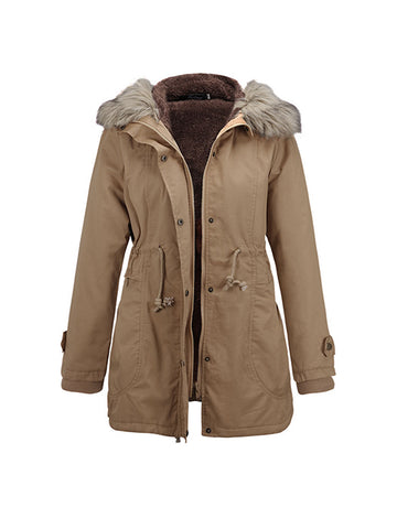 Double Breasted Turn Down Collar Coat