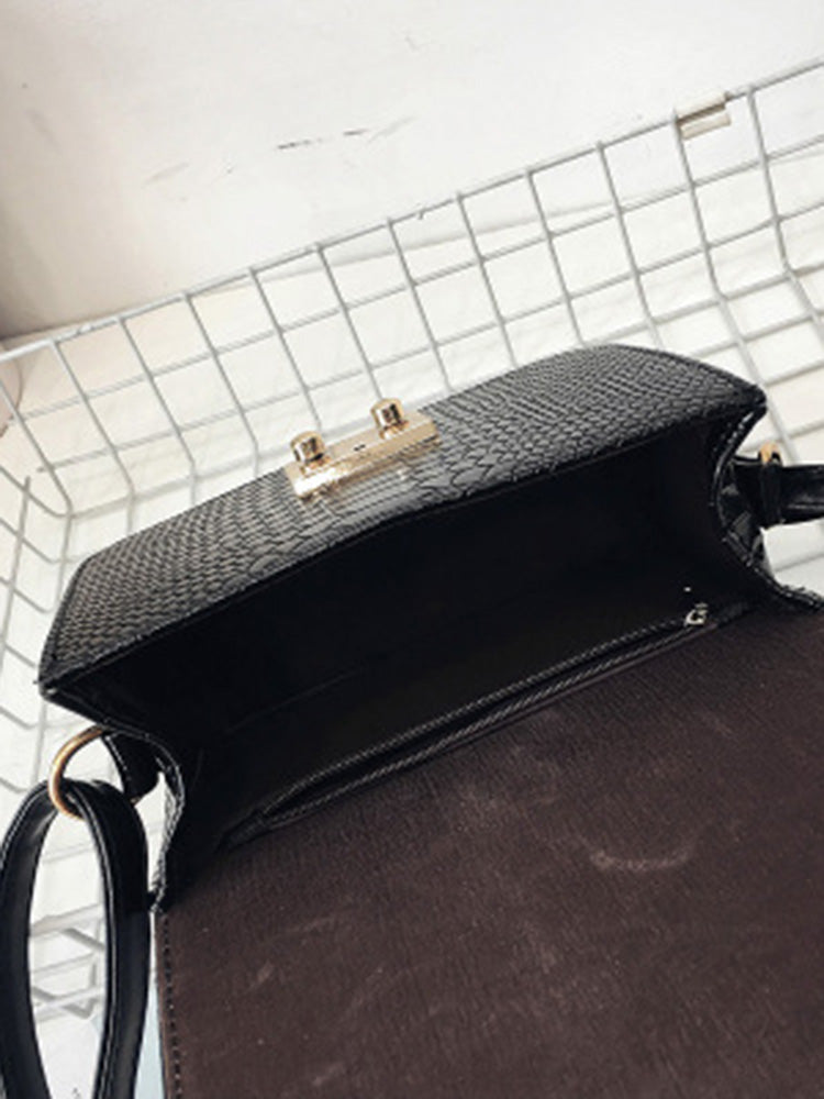 Croc Print Mini Cross Body Bag