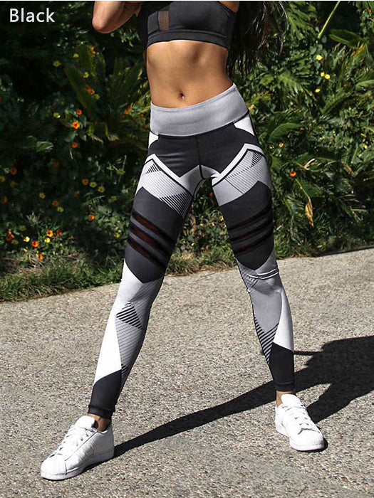 Sexy Women Fashion Print Leggings Slim Tights Elastic Waist Fitness Pants Workout Leggings Trousers