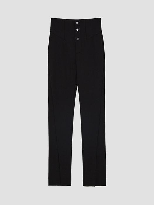Bottom Split Super Skinny Pant In Black