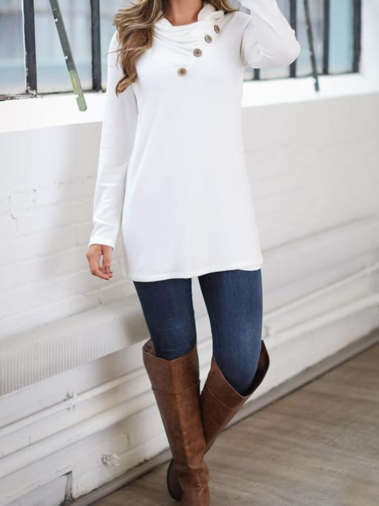 Button Embellished Pullover