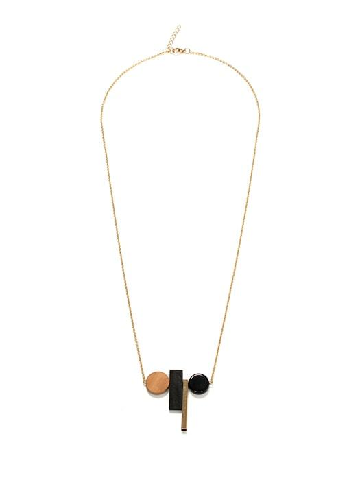 Geometric Element Set Necklace Sweater Chain