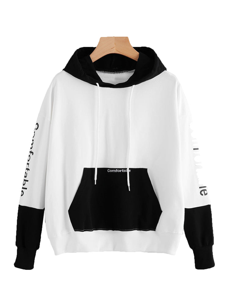Black And White Hoodie