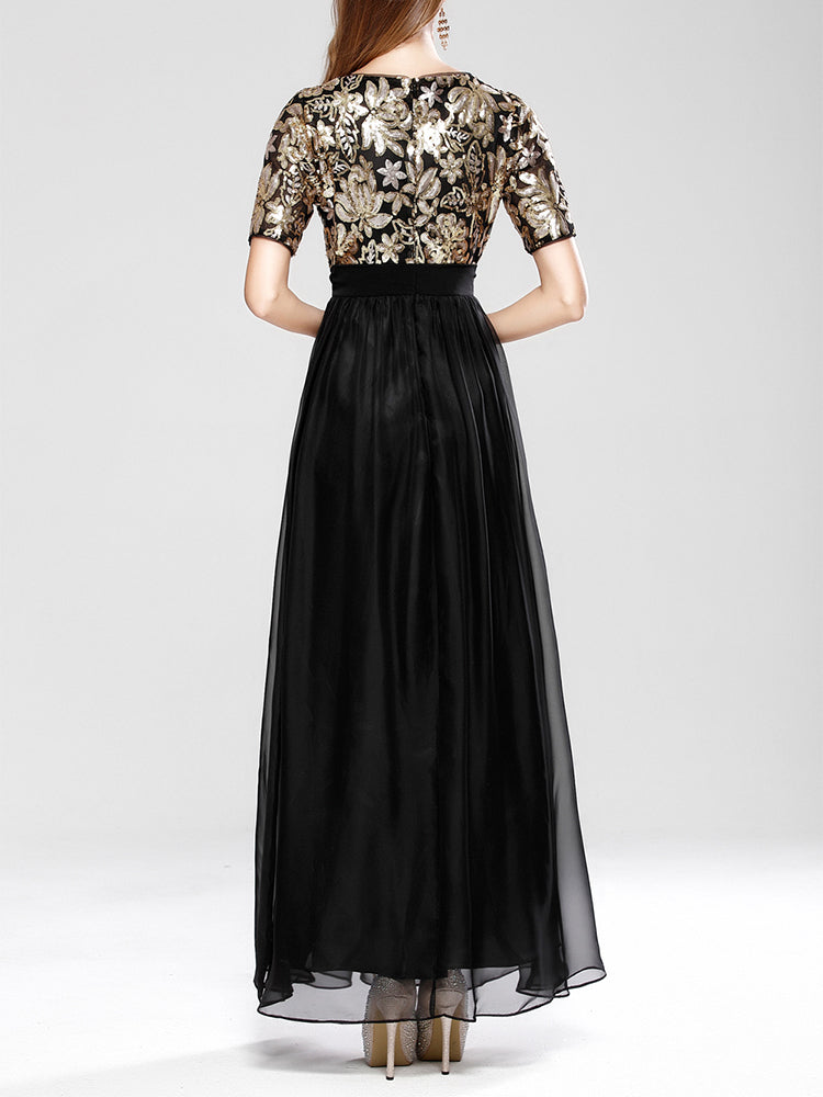 Sepuin/Patchwork/Embroider/Formal Evening Dress