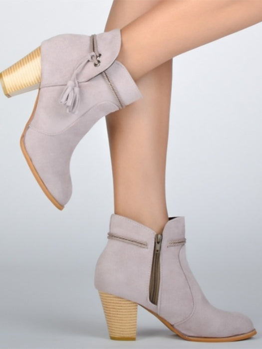 Fashion Tassel Ankle Boots