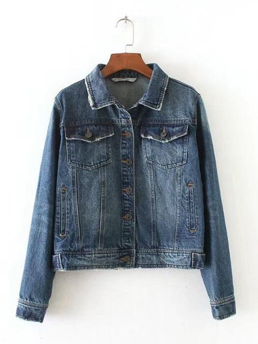Bleached Classic Denim Bodycon Jacket