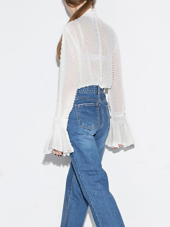 See-through Chiffon Blouse