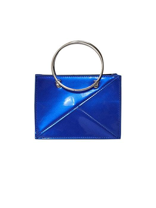 Lacquer Look Ring Handle Bag