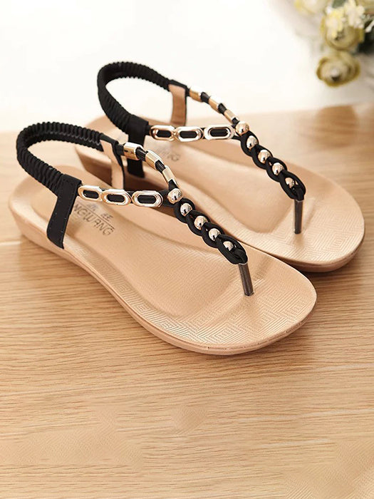 944fe86db36 Summer Solid Color Clip Toe Sandals – WhatsMode