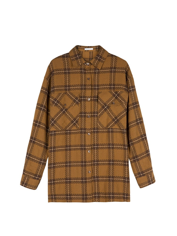 Checked Oversize Classical Point Shirt