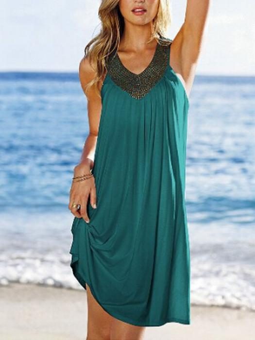 Summer V-neck Sexy Beach Dress