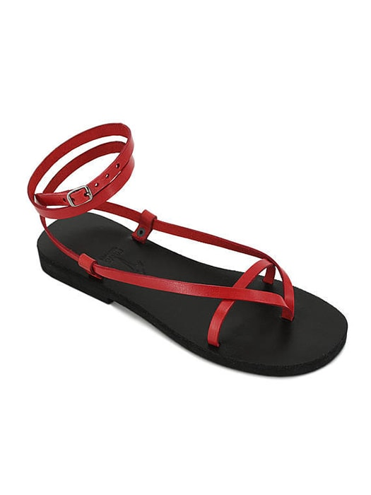 Tie Pure Color Toepost Flat Sandals