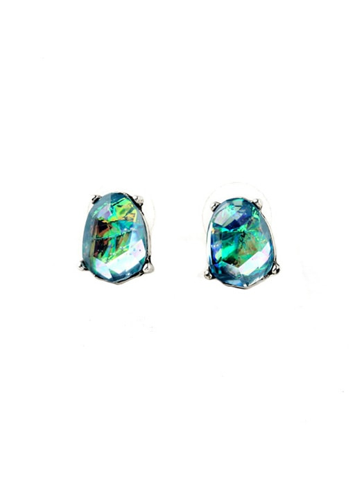 Bright Rhombus Gem Earring