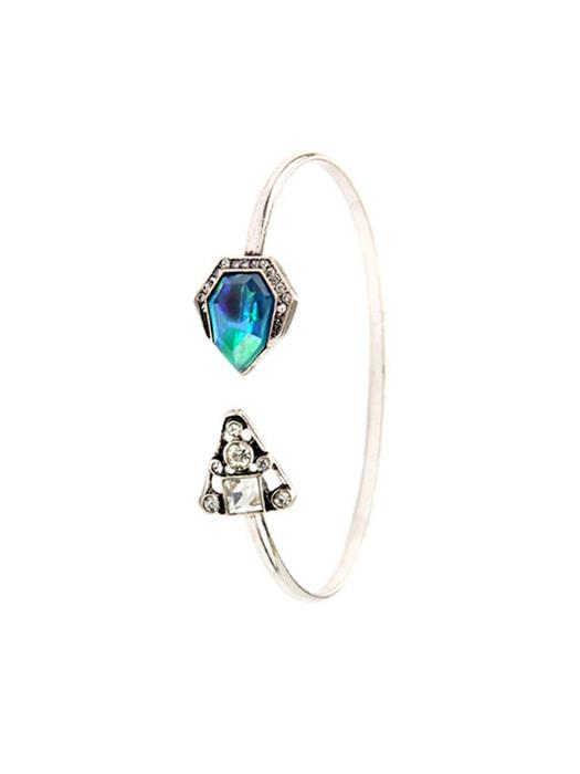 Asymmetrical Gem Bangle
