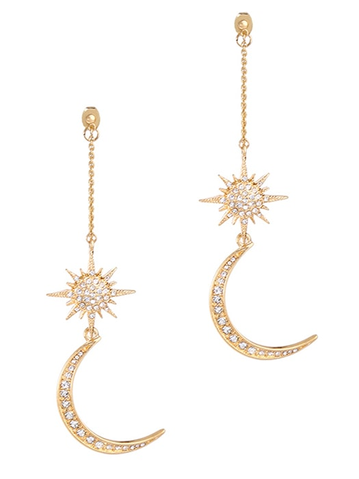Bright Moon and Stars Earrings