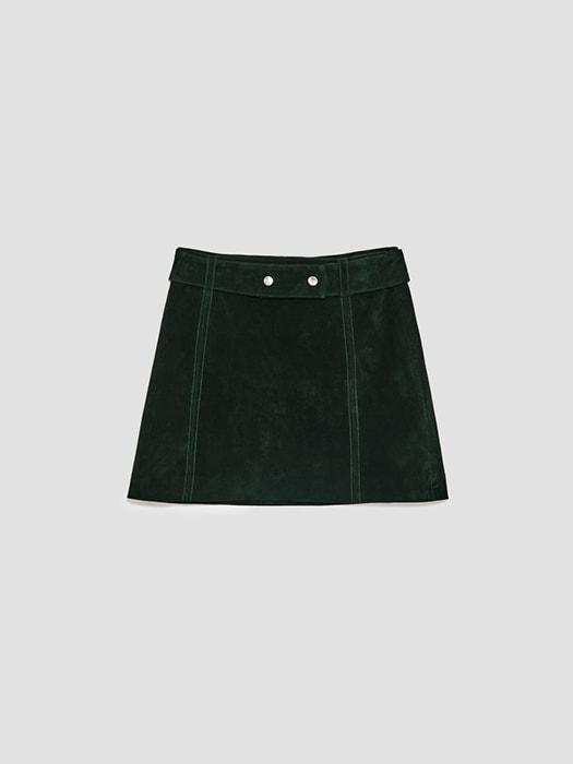 Chammy Velvet H-line Mini Skirt