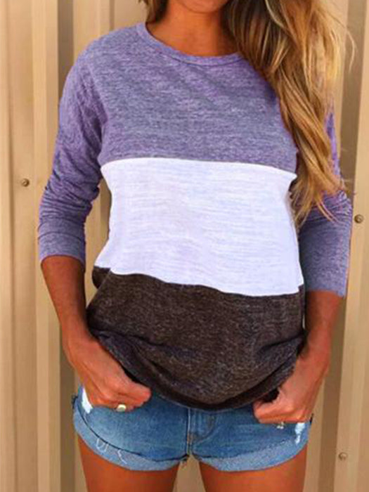 Casual Patchwork Pullover