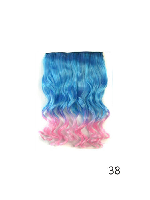 5 Clip Multi Colored Ombre Hair Extensions Whatsmode