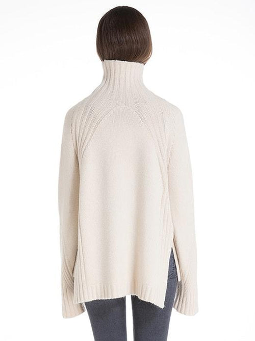 Basic Turtleneck Sweater with Side Slits