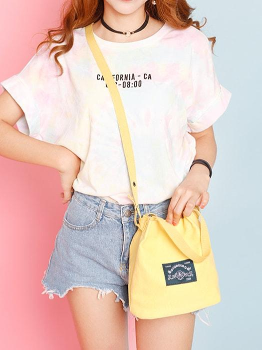 Candy Color Oversize Canvas Shoulder Bag