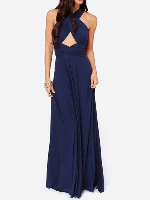 Bohemia Style Cut Out Bodycon Maxi Dress