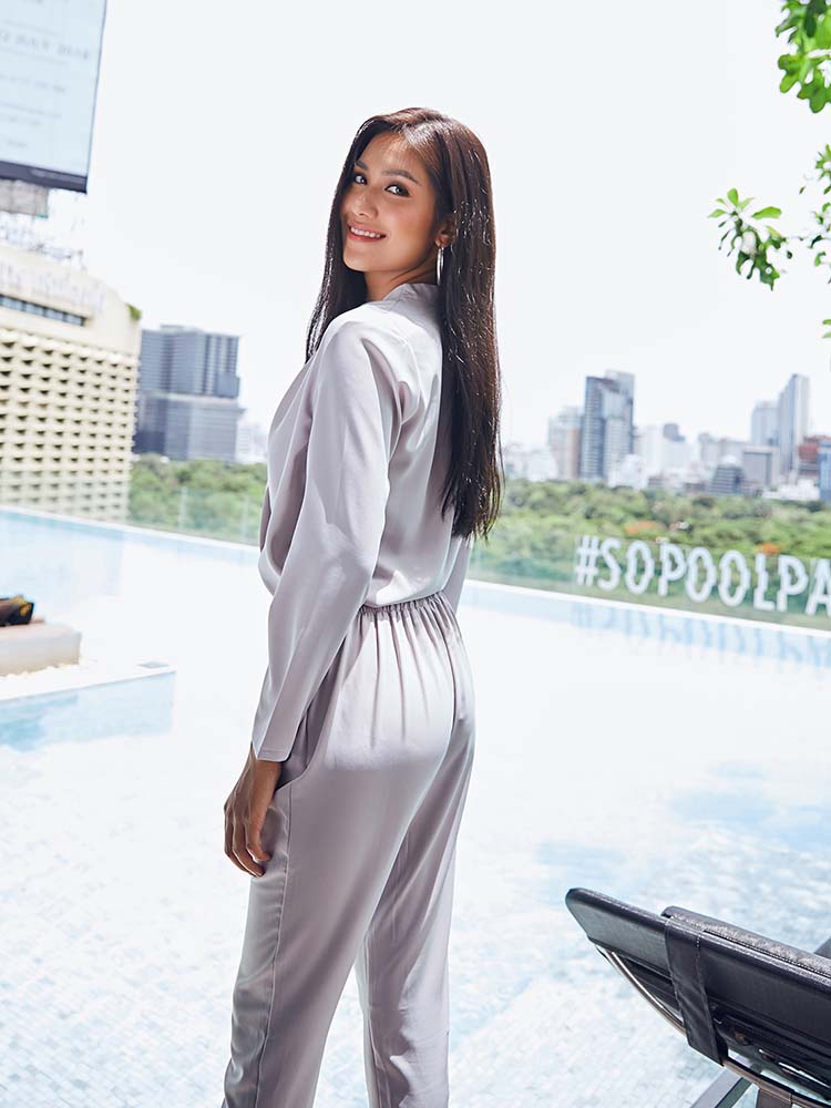 Elegant Long sleeves Solid Jumpsuit