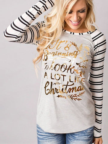 5c47e9240e Ladies Christmas Reindeer Long Sleeve Tops Casual T-Shirt Blouse Jumper