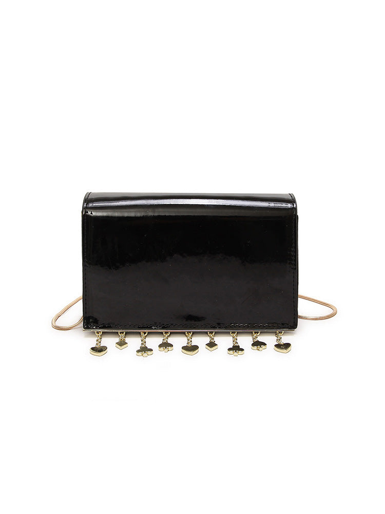 Chain Shoulder Strap Hardware Fringe Cross Body Bag