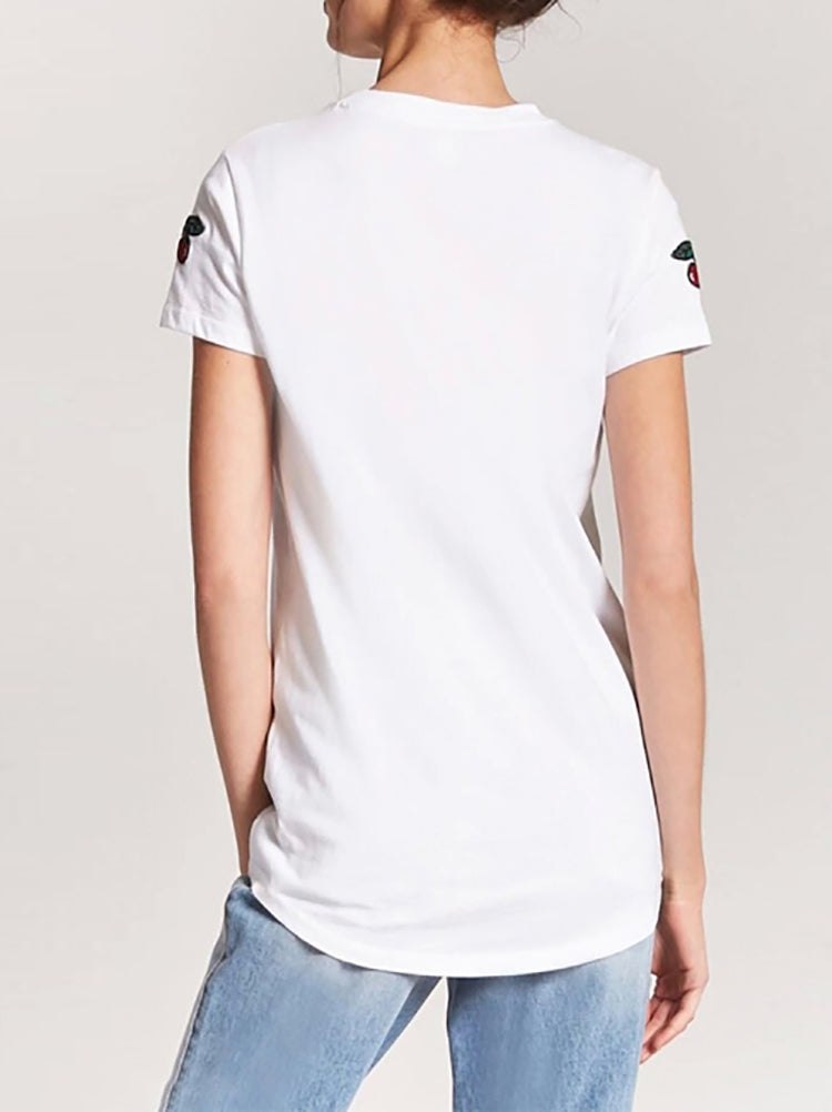 Basic Cherry Love Pure White  T-shirt