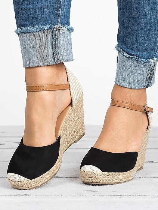 8889f2bec3b Espadrille Platform Wedge Closed Toe Sandals – WhatsMode