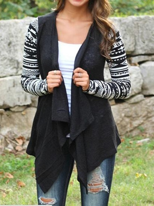 Oversized Cut Atactic Crapy Gypsy Cardigan
