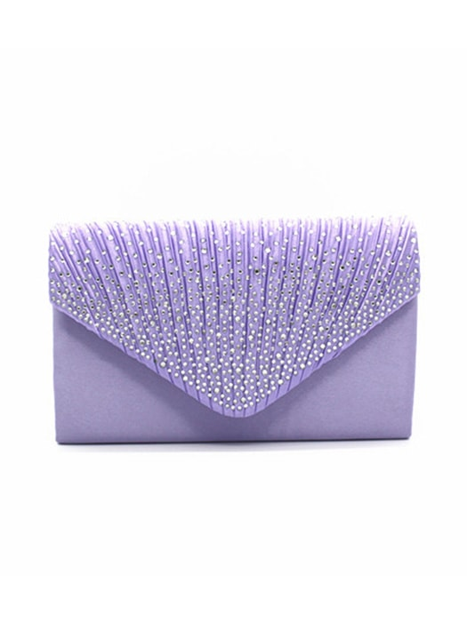 Western Style Diamond Envelope Clutch Bag