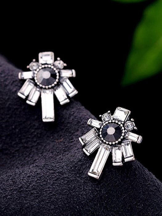 Geometric Figure Jewel Occasion Stud Earrings
