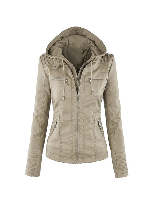 zip through hooded jacket whatsmode