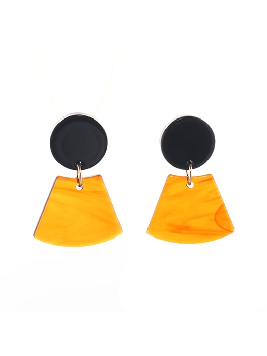 Acid Resin Geometric Earrings