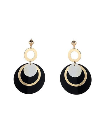 Imitation Pearl Pendant Dangling Earrings