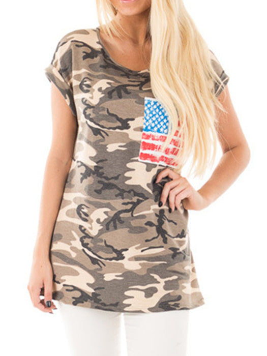 58ba2a0a8cd9c Camouflage Printed American Flag Pocket T-Shirt – WhatsMode
