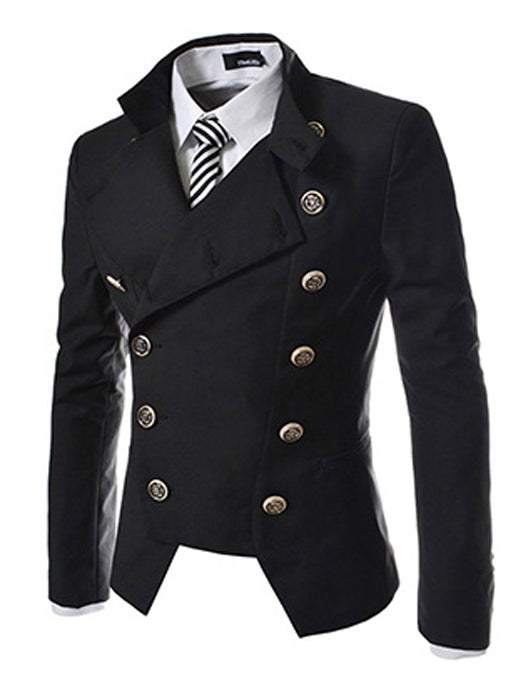 Double-breasted Men Blazer Outdoors Slim Fit Jacket