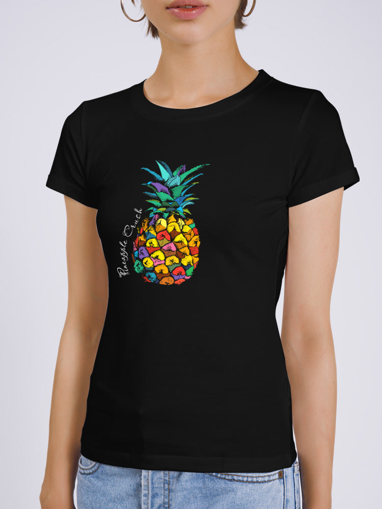 Colorful Pineapple Fitted T-shirt