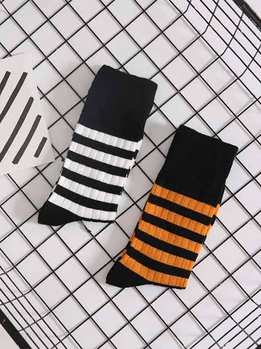 Bee Stripes Designed Socks