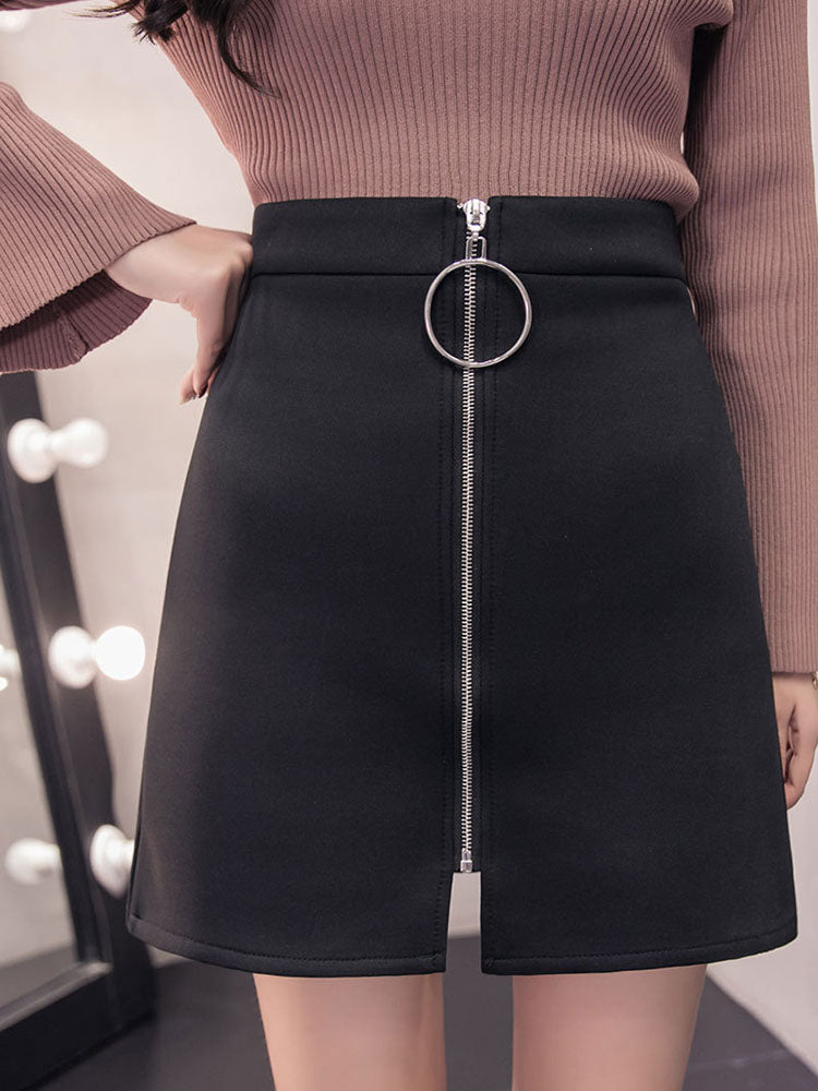 A-line Skirt With Ring