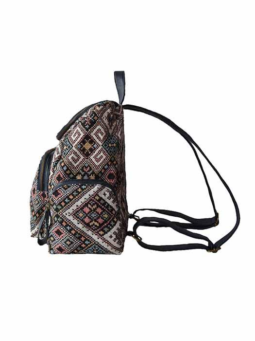 Durable PU Patterned Backpack