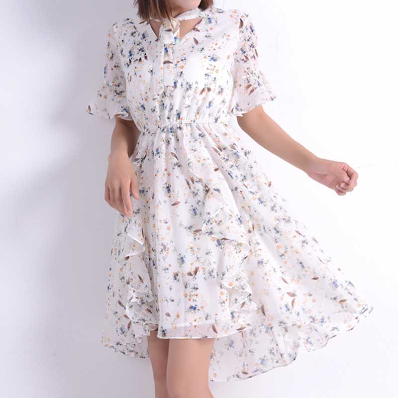 Sweet Ruffle Floral Dress