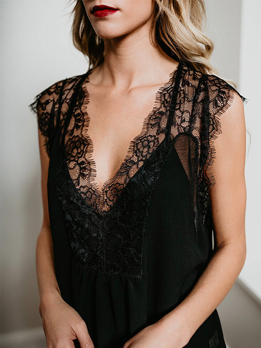 Women Summer Lace Sleeveless Top