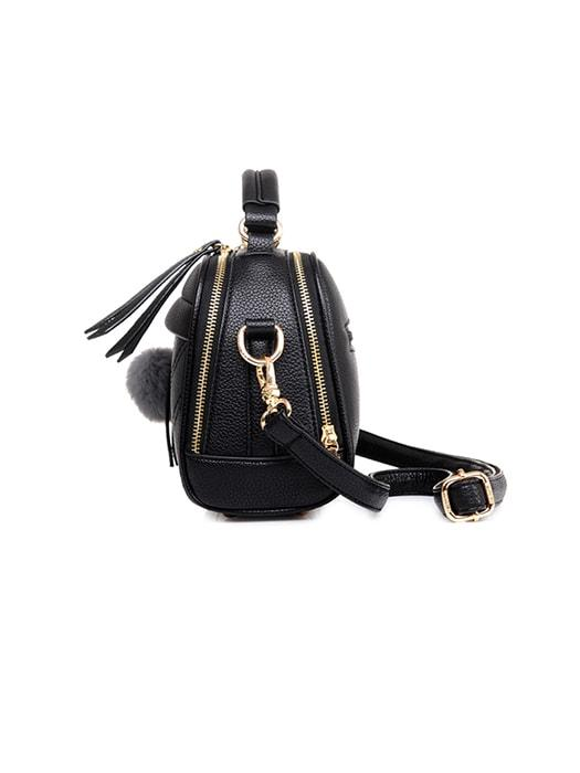 Fluffy Hanging Drop Stitched Cross Body Bags